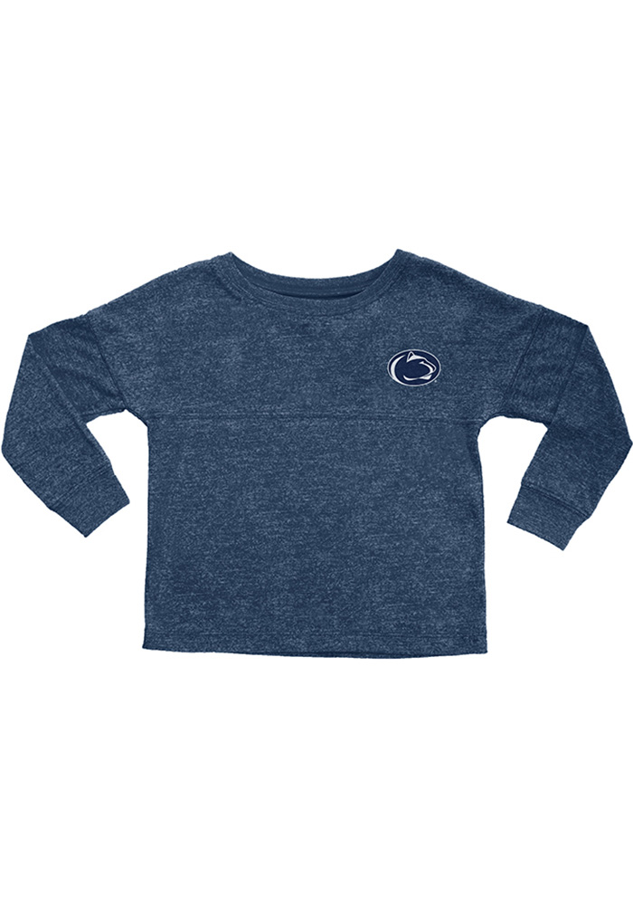 Penn State Nittany Lions Girls Navy Blue Varsity Floral Long Sleeve T-shirt - Image 1