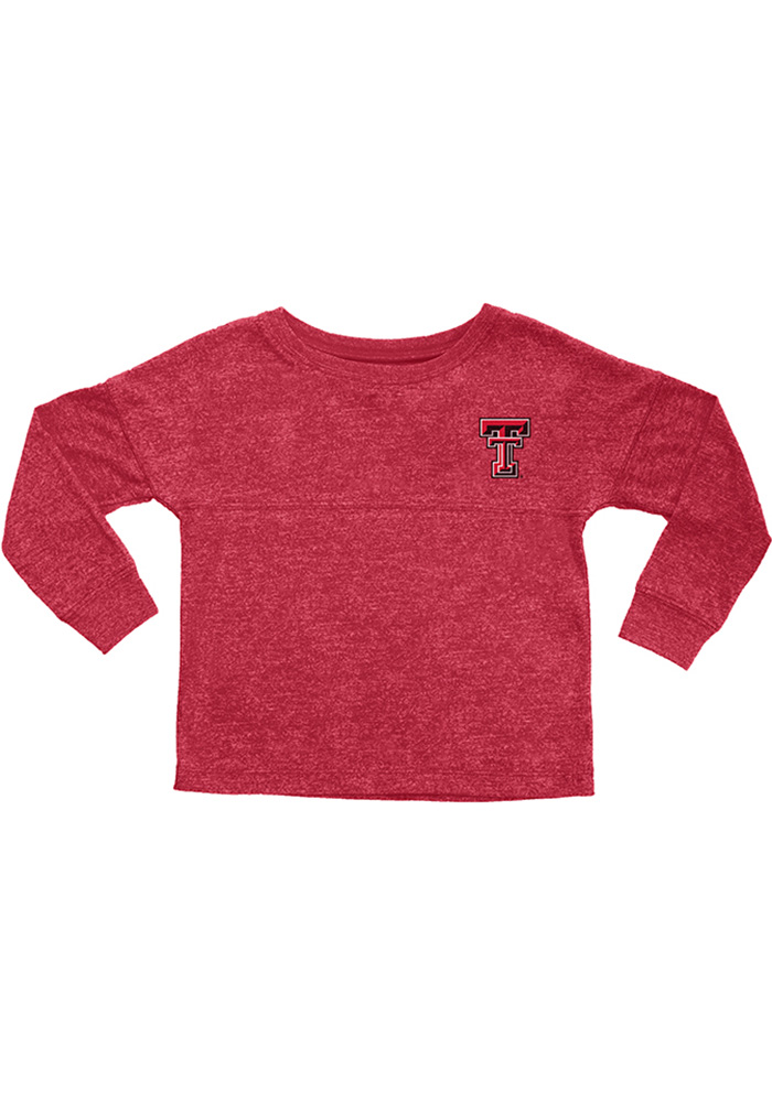 Texas Tech Red Raiders Girls Red Varsity Floral Long Sleeve T-shirt - Image 1