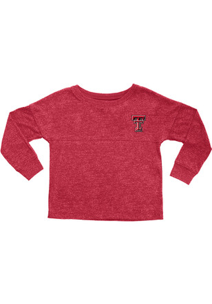 Texas Tech Red Raiders Girls Red Varsity Floral Long Sleeve T-shirt