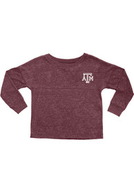 Texas A&M Aggies Girls Maroon Varsity Floral Long Sleeve T-shirt