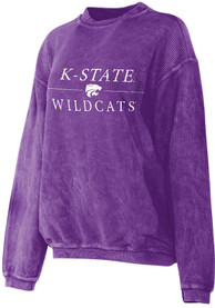 timeless design 87b8a 28986 K-State Wildcats Womens Corded Purple Crew Sweatshirt