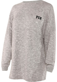 Pittsburgh Womens Grey Cozy Fleece Long Sleeve T Shirt