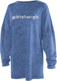 Pittsburgh Womens Blue Long Sleeve T Shirt