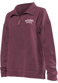 Missouri State Bears Womens Corded Quarter Maroon 1/4 Zip Pullover