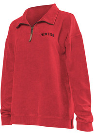 Texas Tech Red Raiders Womens Corded Quarter Red 1/4 Zip Pullover