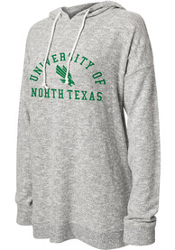 North Texas Mean Green Womens Grey Cozy Hoodie