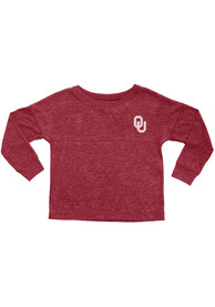 Oklahoma Sooners Girls Crimson Varsity Jersey Long Sleeve T-shirt