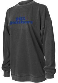 Pitt Panthers Womens Campus Crew Sweatshirt - Charcoal
