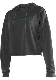 North Texas Mean Green Womens Campus Hooded Sweatshirt - Charcoal