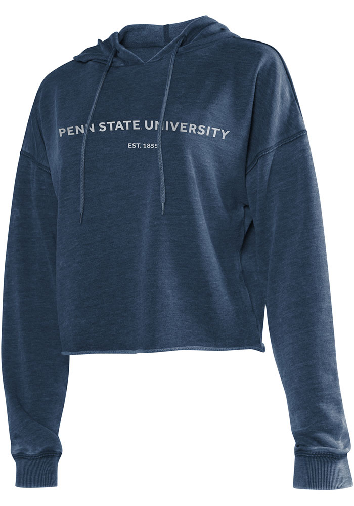 Penn State Nittany Lions Womens Navy Blue Campus Hooded Sweatshirt - Image 1