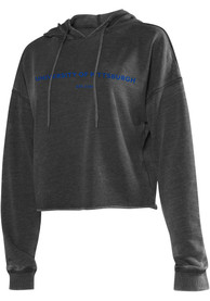 Pitt Panthers Womens Campus Hooded Sweatshirt - Charcoal