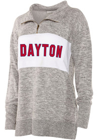 Dayton Flyers Womens Cozy 1/4 Zip Pullover - Grey