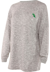North Texas Mean Green Womens Cozy Varsity Grey LS Tee
