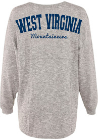 West Virginia Mountaineers Womens Cozy Varsity Grey LS Tee