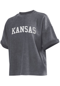 Kansas Womens Wordmark T-Shirt - Charcoal