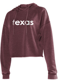 Texas Women's Merlot Campus Cropped Long Sleeve Hood Sweatshirt