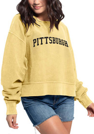Pittsburgh Women's Gold Corded Boxy Pullover Long Sleeve T-Shirt
