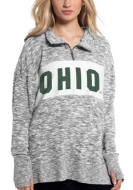 Ohio Bobcats Womens Cozy 1/4 Zip Pullover - Grey