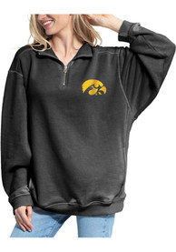 Iowa Hawkeyes Womens Everybody 1/4 Zip Pullover - Charcoal