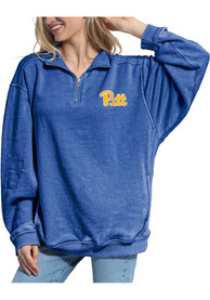 Pitt Panthers Womens Everybody 1/4 Zip Pullover - Blue