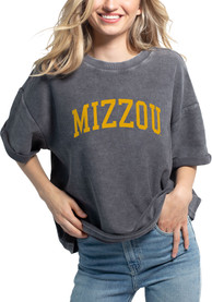 Missouri Tigers Womens Corded Throwback T-Shirt - Charcoal
