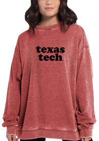 Texas Tech Red Raiders Womens Campus Crew Sweatshirt - Red