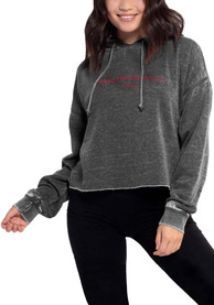 Texas Tech Red Raiders Womens Campus Hooded Sweatshirt - Charcoal