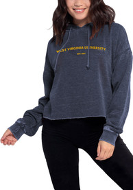West Virginia Mountaineers Womens Campus Hooded Sweatshirt - Navy Blue
