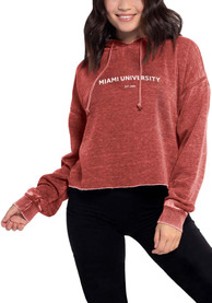 Miami RedHawks Womens Campus Hooded Sweatshirt - Red