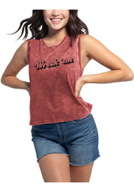 Texas Tech Red Raiders Womens Campus Tank Top - Red