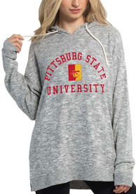 Pitt State Gorillas Womens Cozy Tunic Hooded Sweatshirt - Grey