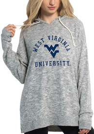 West Virginia Mountaineers Womens Cozy Tunic Hooded Sweatshirt - Grey