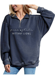 Penn State Nittany Lions Womens Everybody 1/4 Zip Pullover - Navy Blue