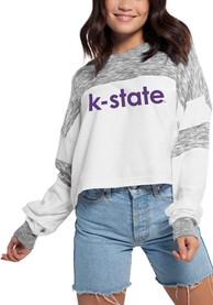 K-State Wildcats Womens Cozy Colorblock T-Shirt - White
