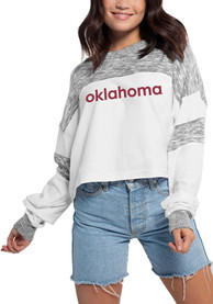 Oklahoma Sooners Womens Cozy Colorblock T-Shirt - White
