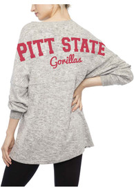 Pitt State Gorillas Womens Cozy T-Shirt - Grey