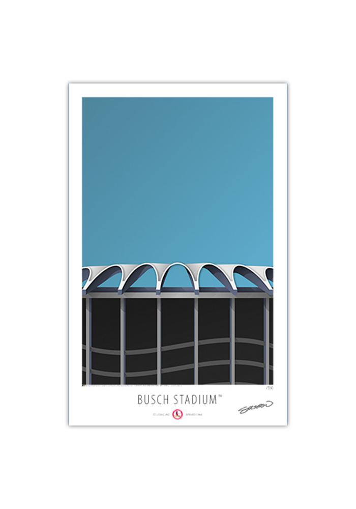 St Louis Cardinals Busch Stadium II 17x26 Ltd Ed Wall Art - Image 1