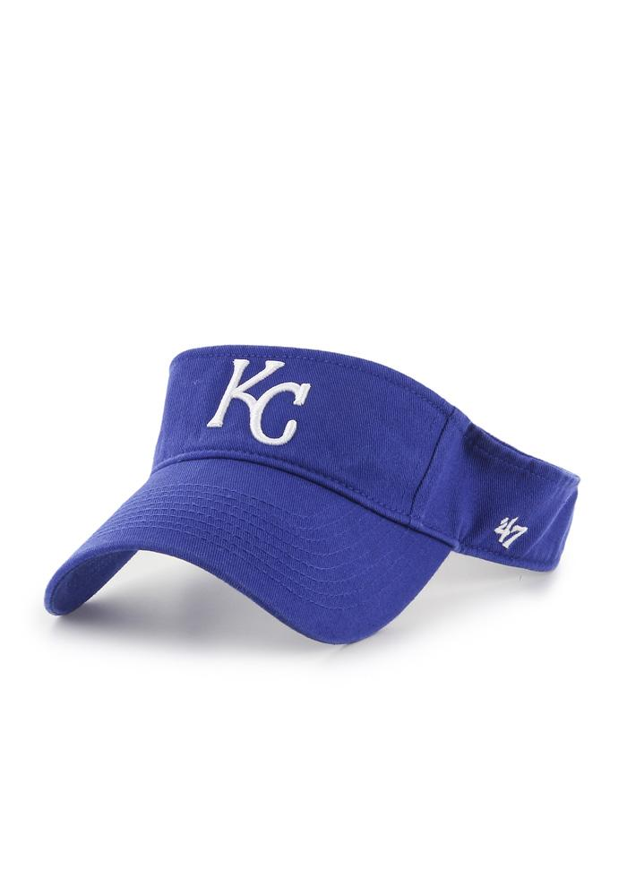 '47 Kansas City Royals Mens Blue Clean Up Adjustable Visor - Image 1