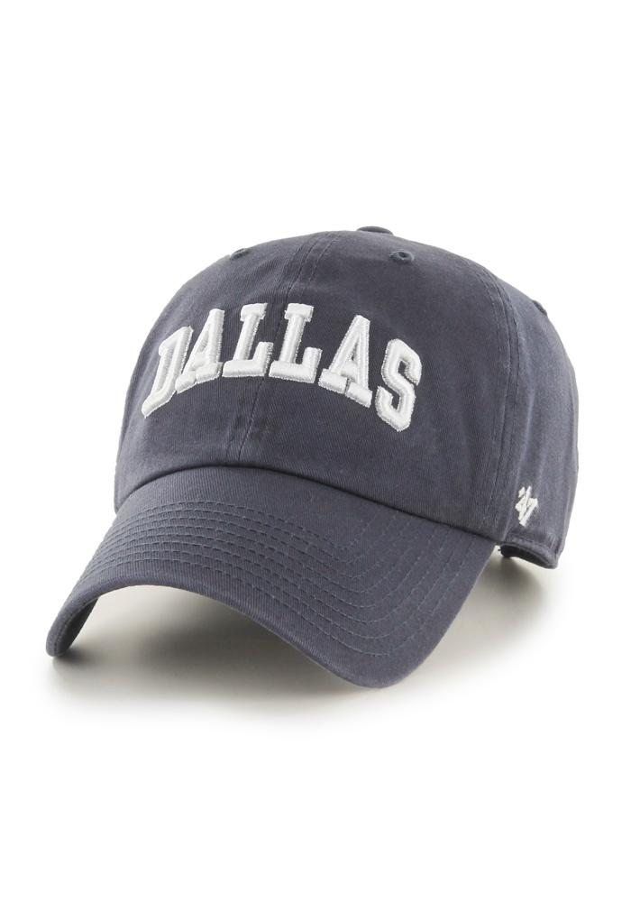 Dallas Ft Worth Arched Adjustable Hat - Navy Blue - Image 1