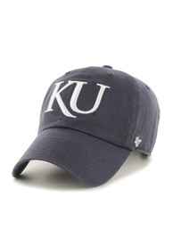 47 Kansas Jayhawks Clean Up Adjustable Hat - Navy Blue