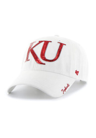 47 Kansas Jayhawks Womens White Sparkle Adjustable Hat
