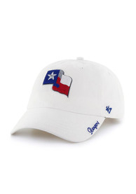best loved 916a0 66bb3  47 Texas Rangers Womens White Miata Clean Up Adjustable Hat