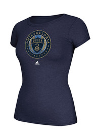 Adidas Philadelphia Union Womens Full Color Primary Navy Blue T-Shirt