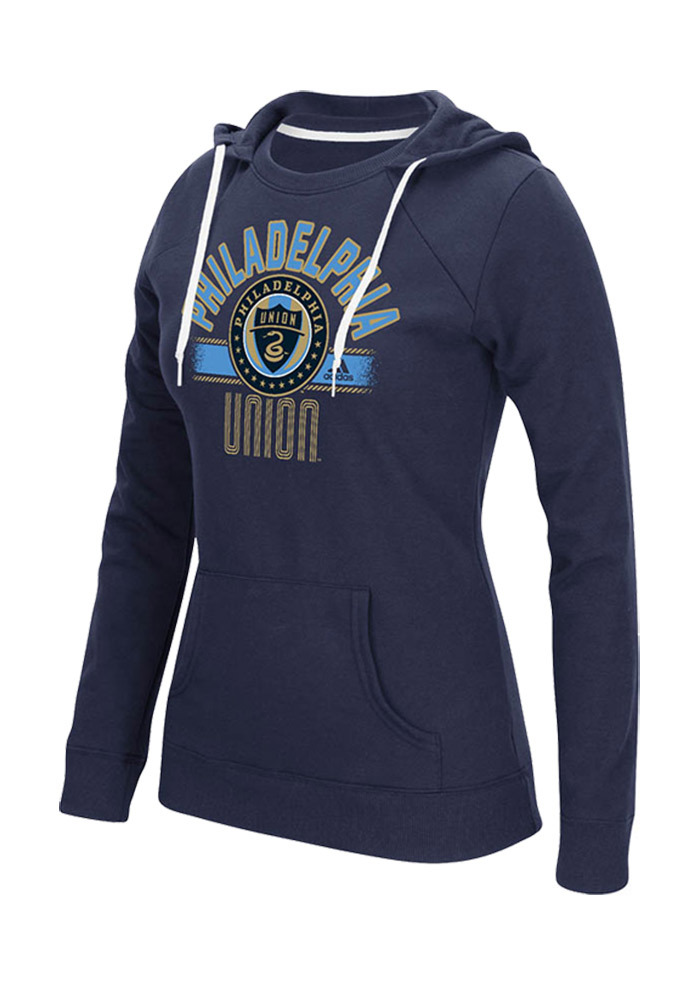 Philadelphia Union Womens Navy Blue Arch Banner Hooded Sweatshirt - Image 1