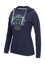 Philadelphia Union Womens Navy Blue Arch Banner Hoodie