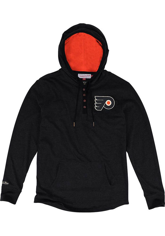 Mitchell and Ness Philadelphia Flyers Mens Black Playoff Spot Long Sleeve Hoodie - Image 1