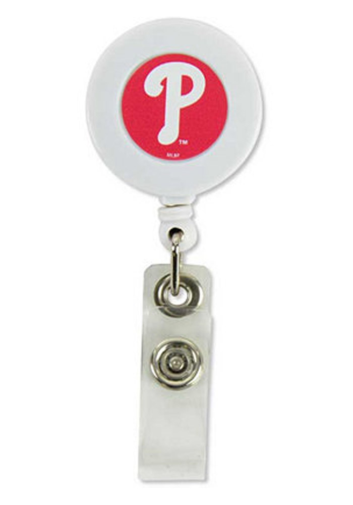 Philadelphia Phillies Plastic Badge Holder - Image 1