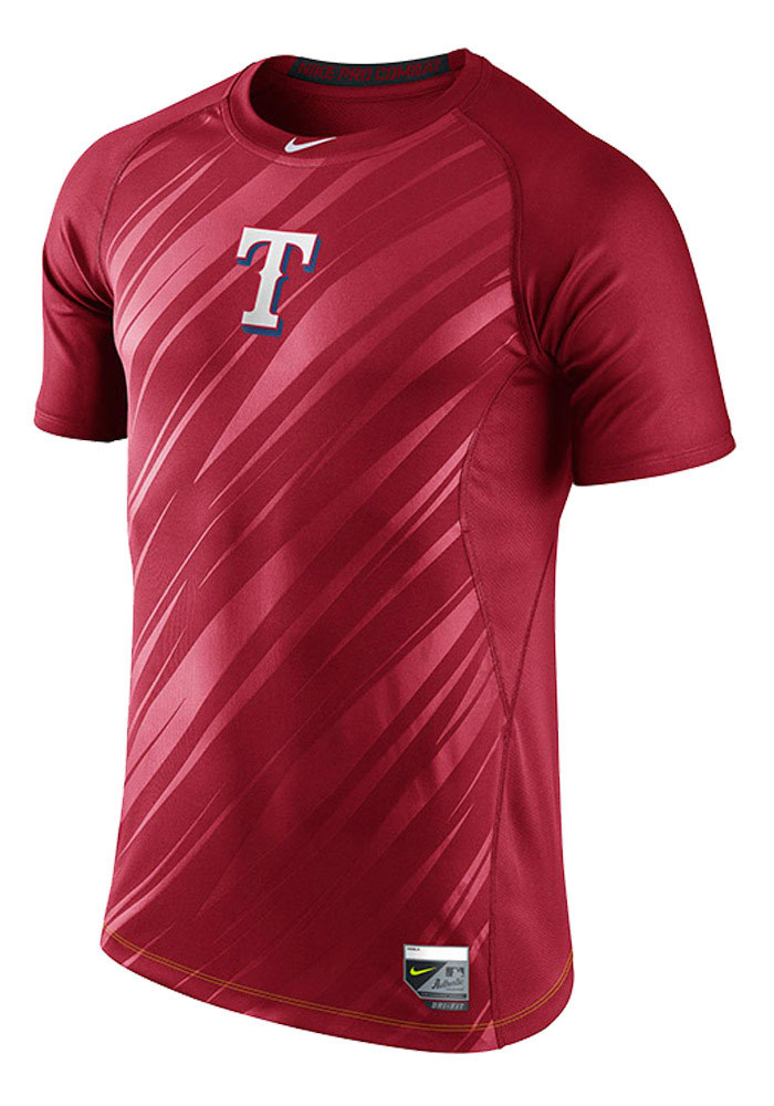 Nike Texas Rangers Red Speed Short Sleeve T Shirt - Image 1