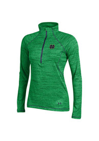 Under Armour Notre Dame Fighting Irish Juniors Space Tech Green 1/4 Zip Pullover