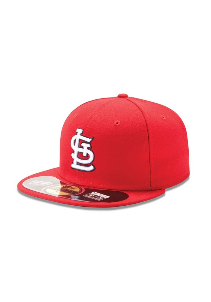 New Era St Louis Cardinals Mens Red Game AC 59FIFTY Fitted Hat - Image 1